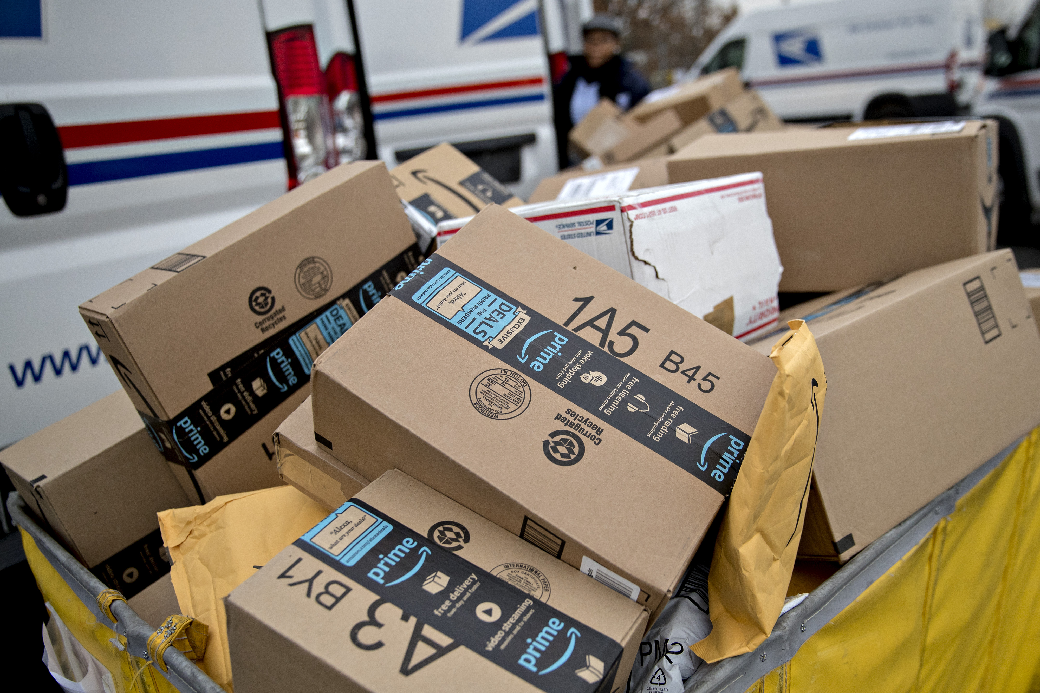 The onset of stay-at-home orders saw a surge in parcel volume for the USPS.
